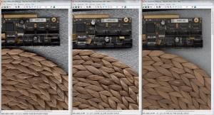 SMA VersaScan 2.5D Image of a Rattan Coaster & PCB @ 600 DPI