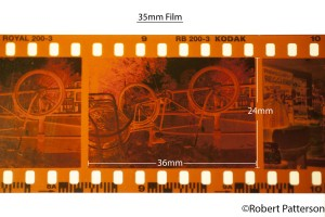 Negative 35 mm Film Strip
