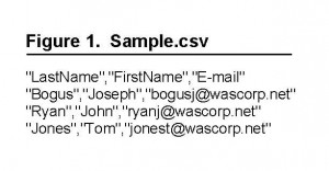 Sample CSV - Comma Separated Values File