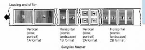 Simplex 16mm Roll Microfilm Image Format